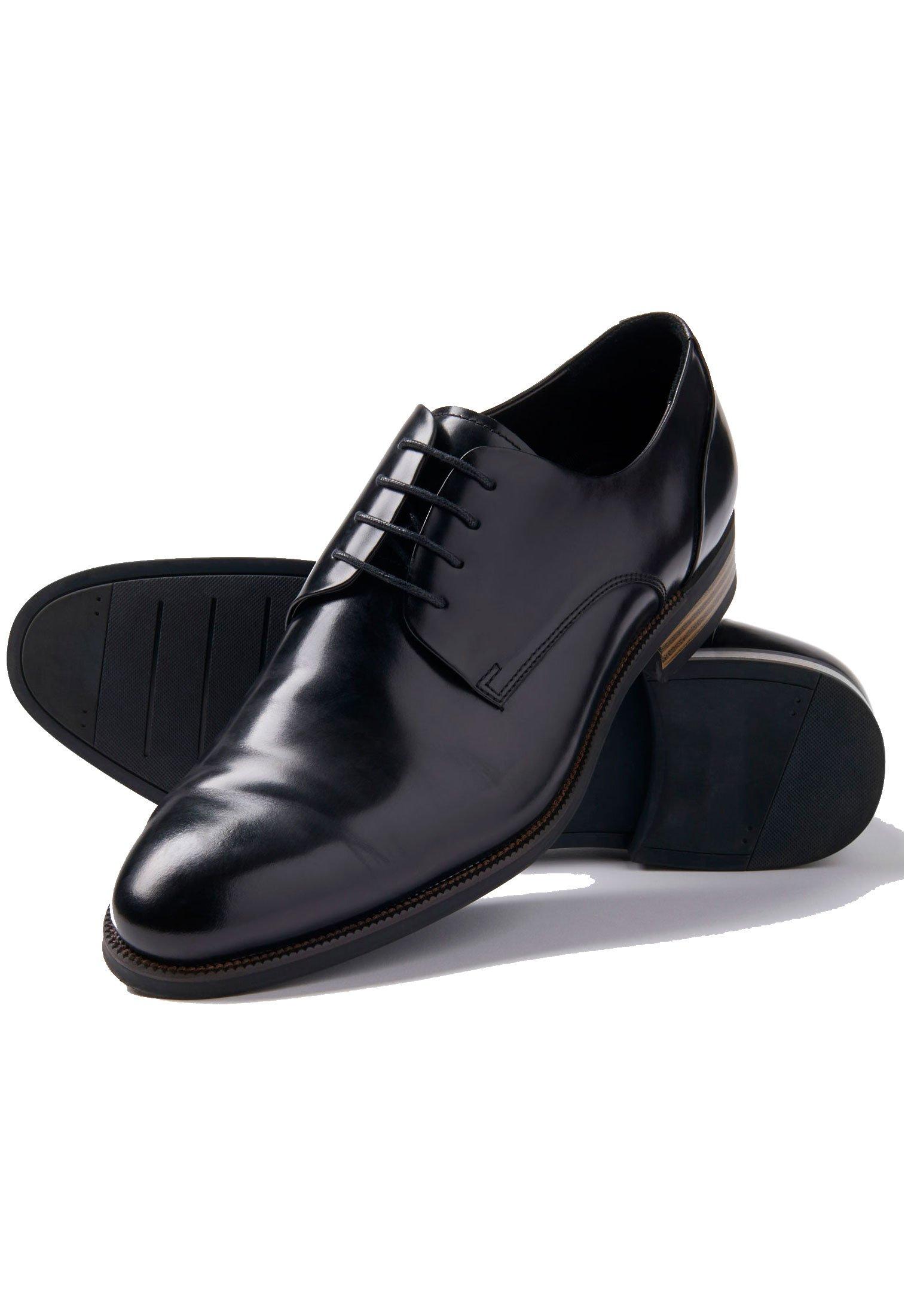 Black Elms Shoe With Rubber Sole