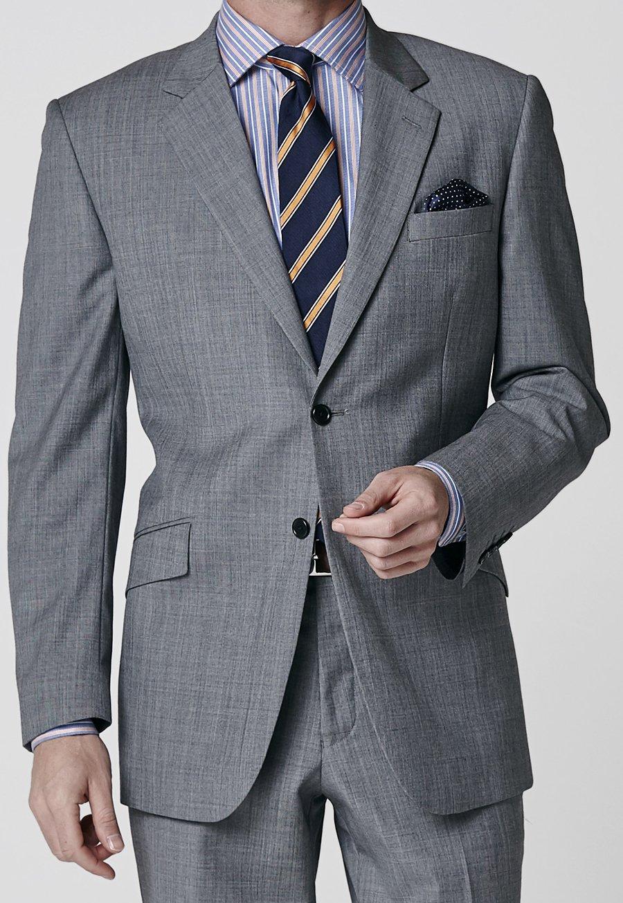Grey Sharkskin Dawlish Suit Jacket £240.00 AT vintagedancer.com