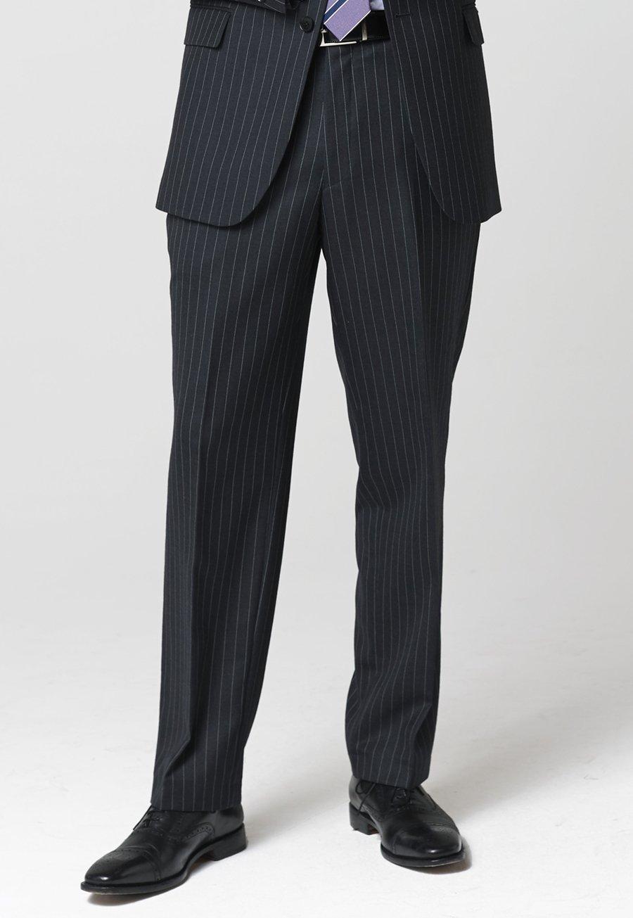 Epsom Grey Pinstripe Suit Trousers £120.00 AT vintagedancer.com