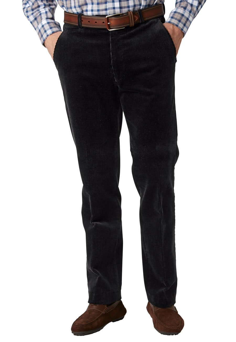 Black Ellroy Cord Trousers