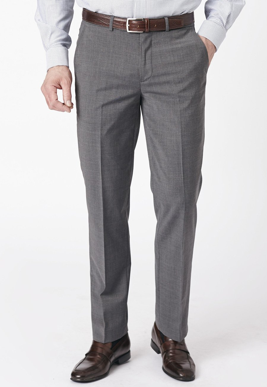 Image of Grey Duxford Crease Resistant Washable Travel Trousers
