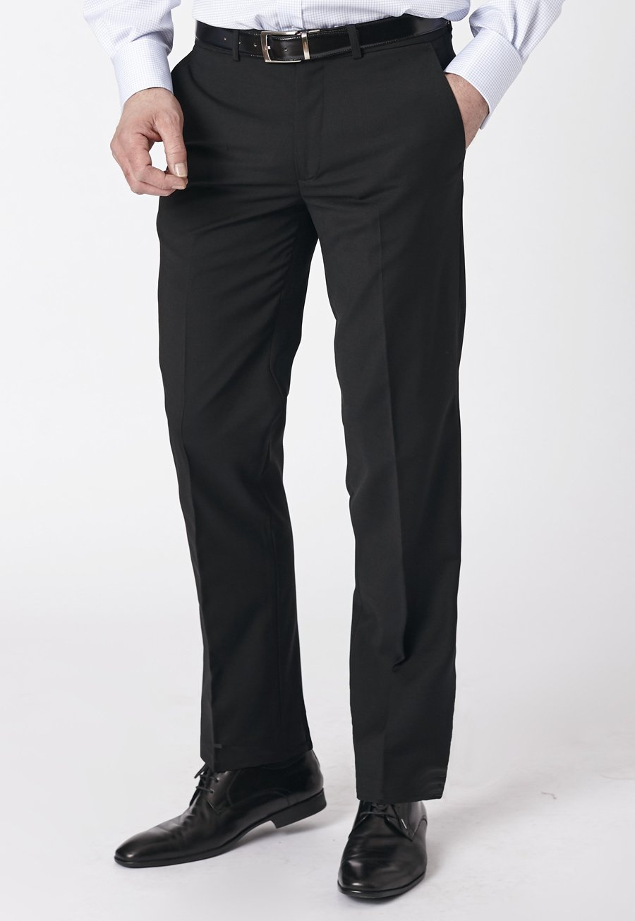 Image of Black Duxford Crease Resistant Washable Travel Trousers