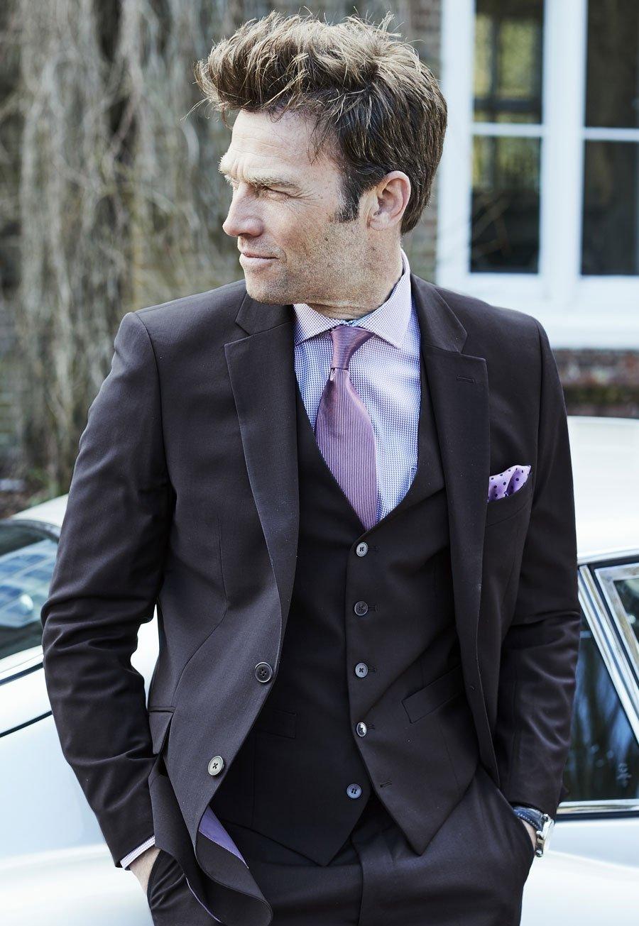 Men's Clothing Avalino Navy Washable Crease Resistant 3 Pcs Travel Suit