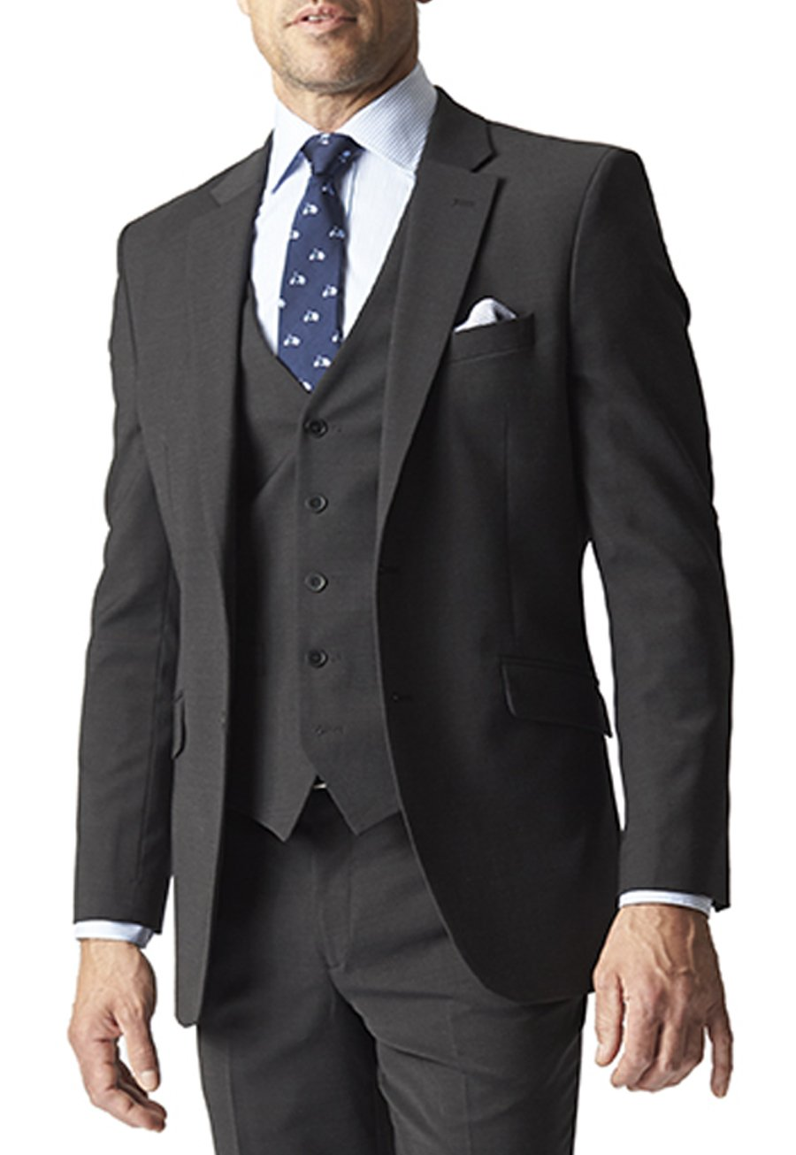 Avalino Charcoal Suit Jacket