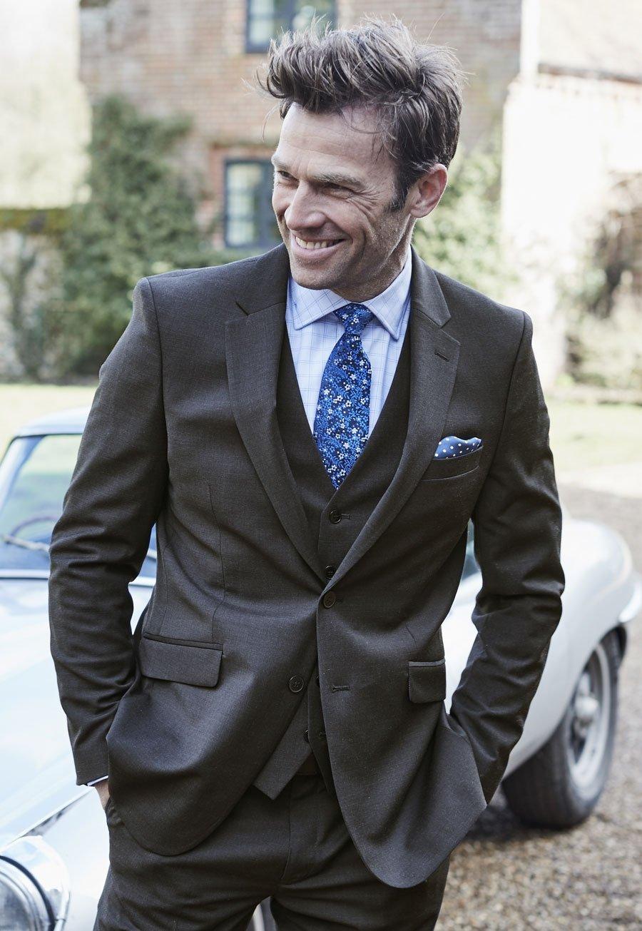 Men's Clothing Avalino Charcoal Washable Crease Resistant 3 Pcs Travel Suit