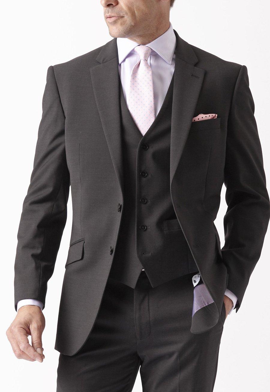 Image of Avalino Charcoal Suit Jacket