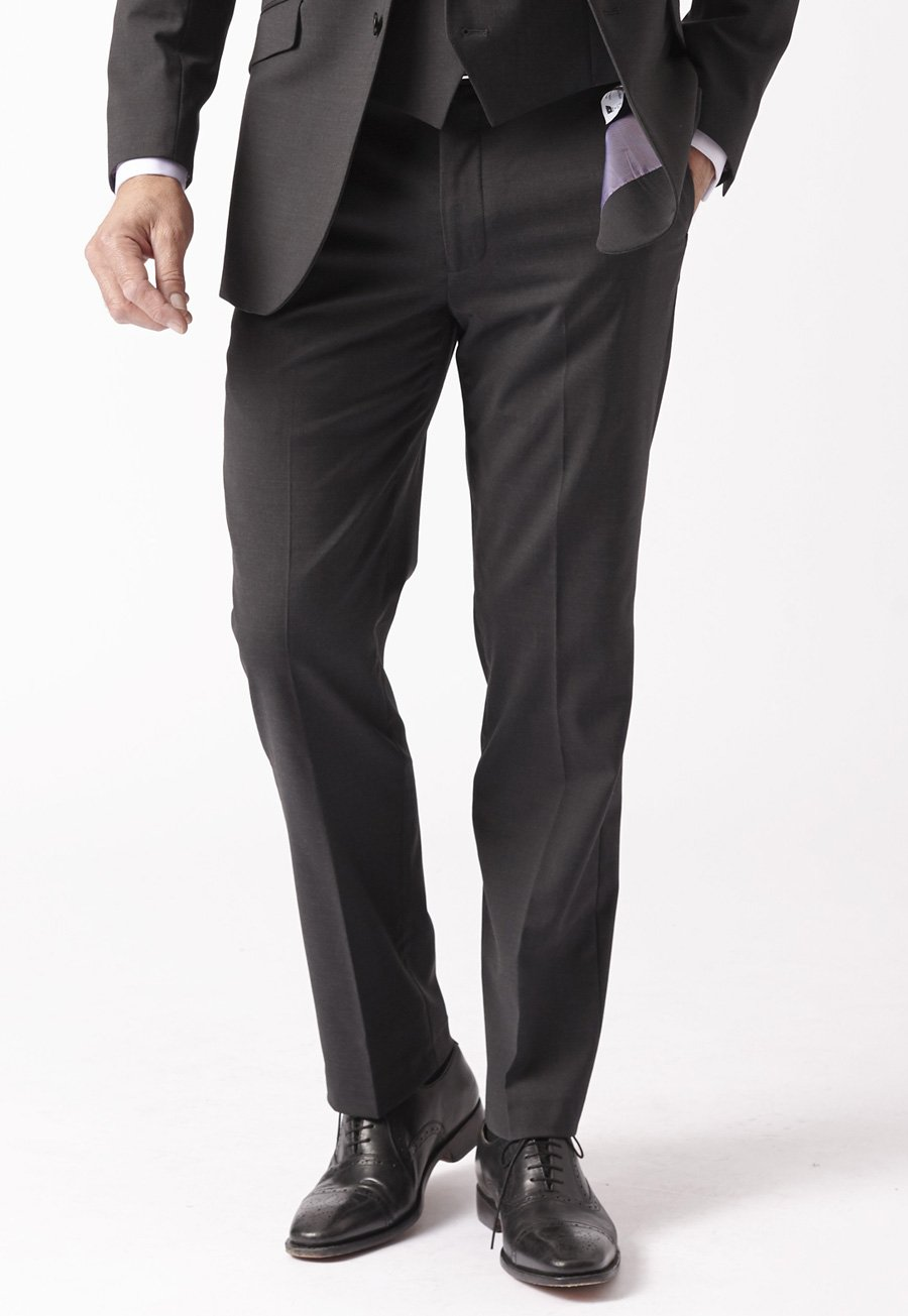 Image of Avalino Charcoal Suit Trousers