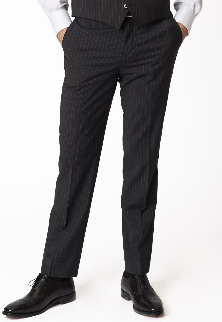 Avalino Charcoal Stripe Suit Trousers