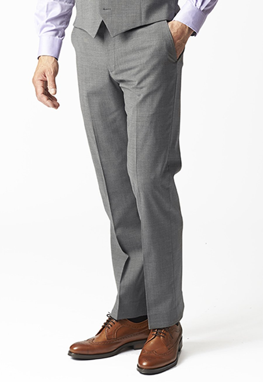 Men's Clothing Avalino Grey Suit Trousers