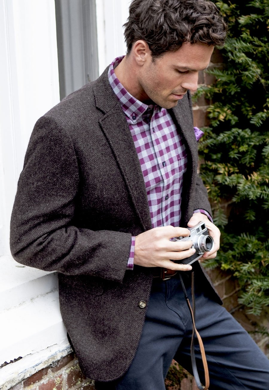 Avon Wine Melange Classic Fit Jacket