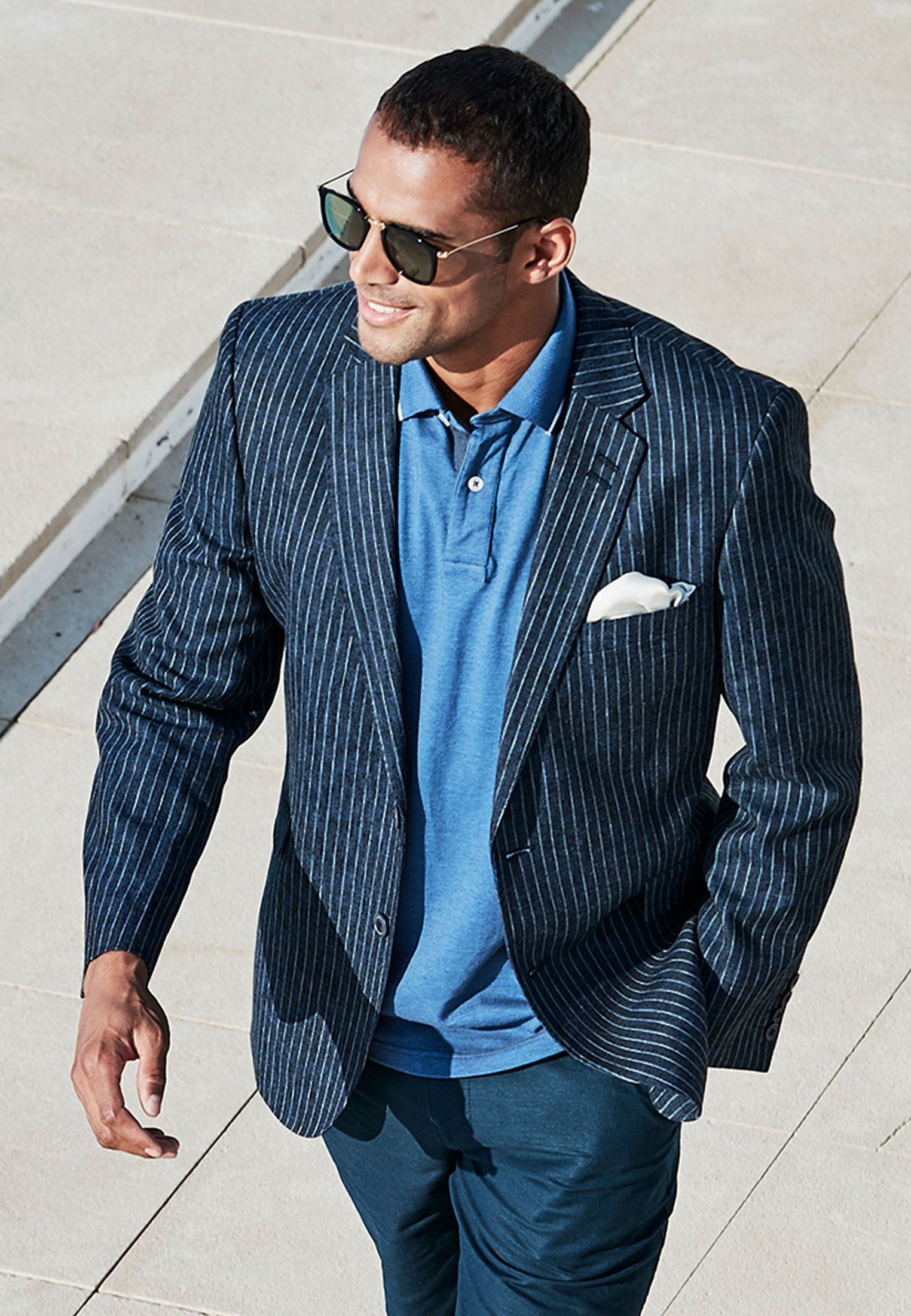Ballard Classic Fit Denim Stripe Jacket