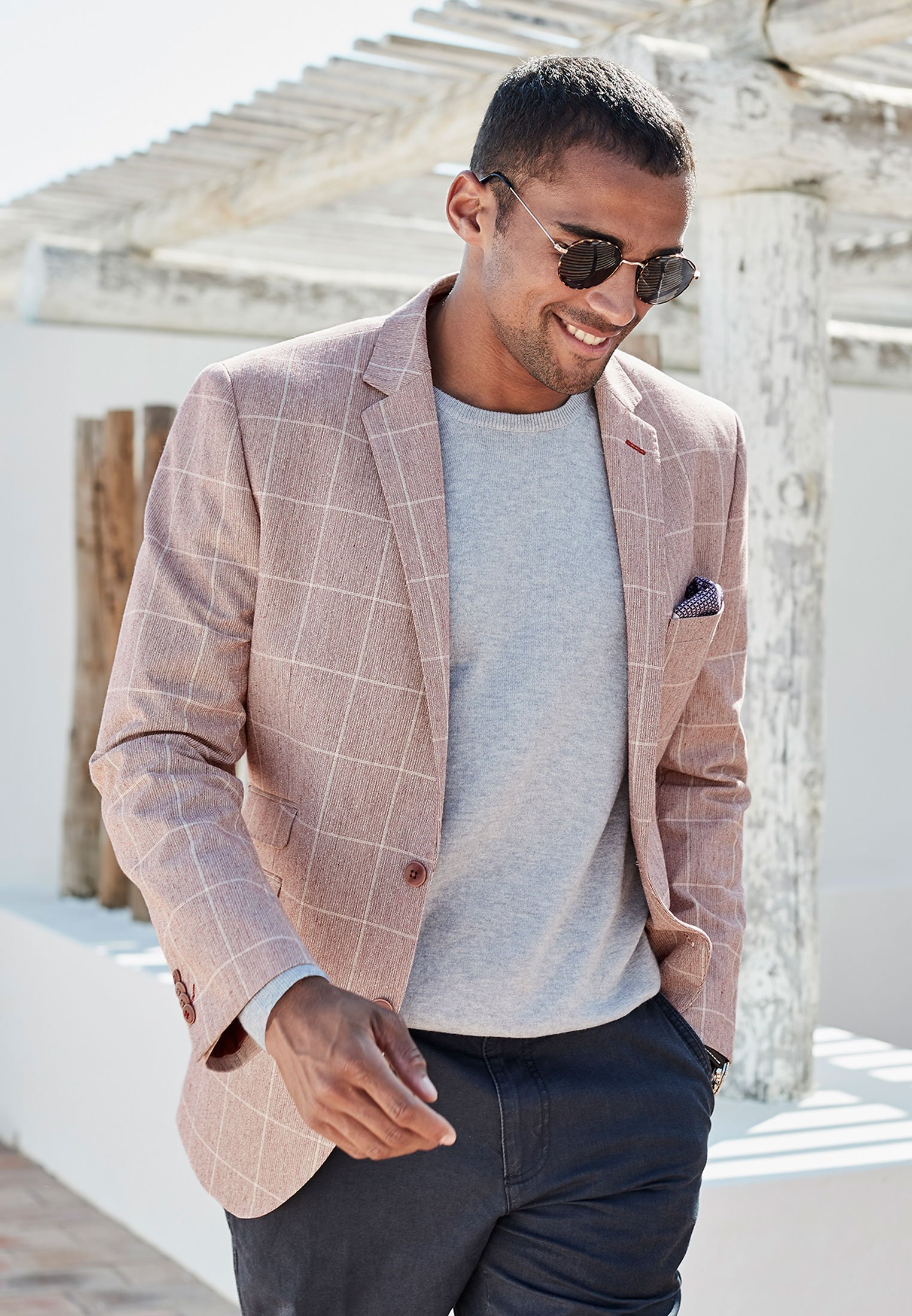 Beeching Tailored Fit Rose Check Jacket