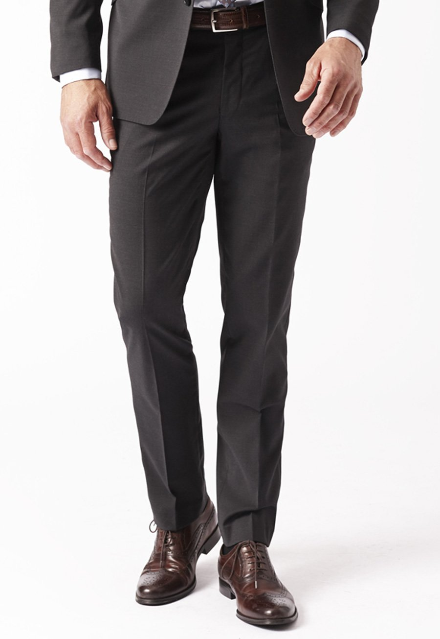 Men's Suits Charcoal Cassino Fashion Fit Washable Suit Trousers