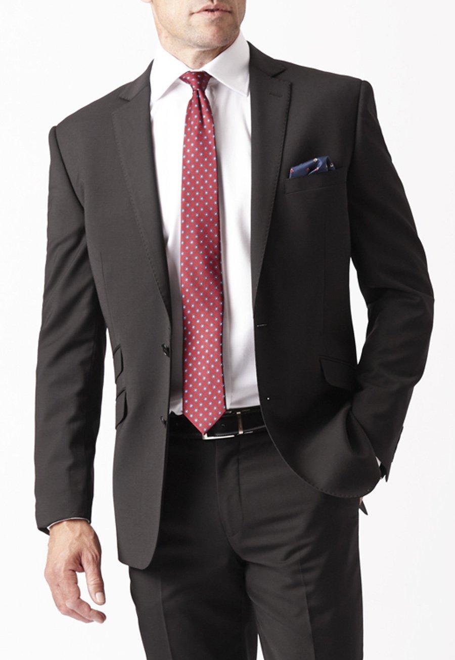 Men's Suits Black Cassino Fashion Fit Washable Suit Jacket