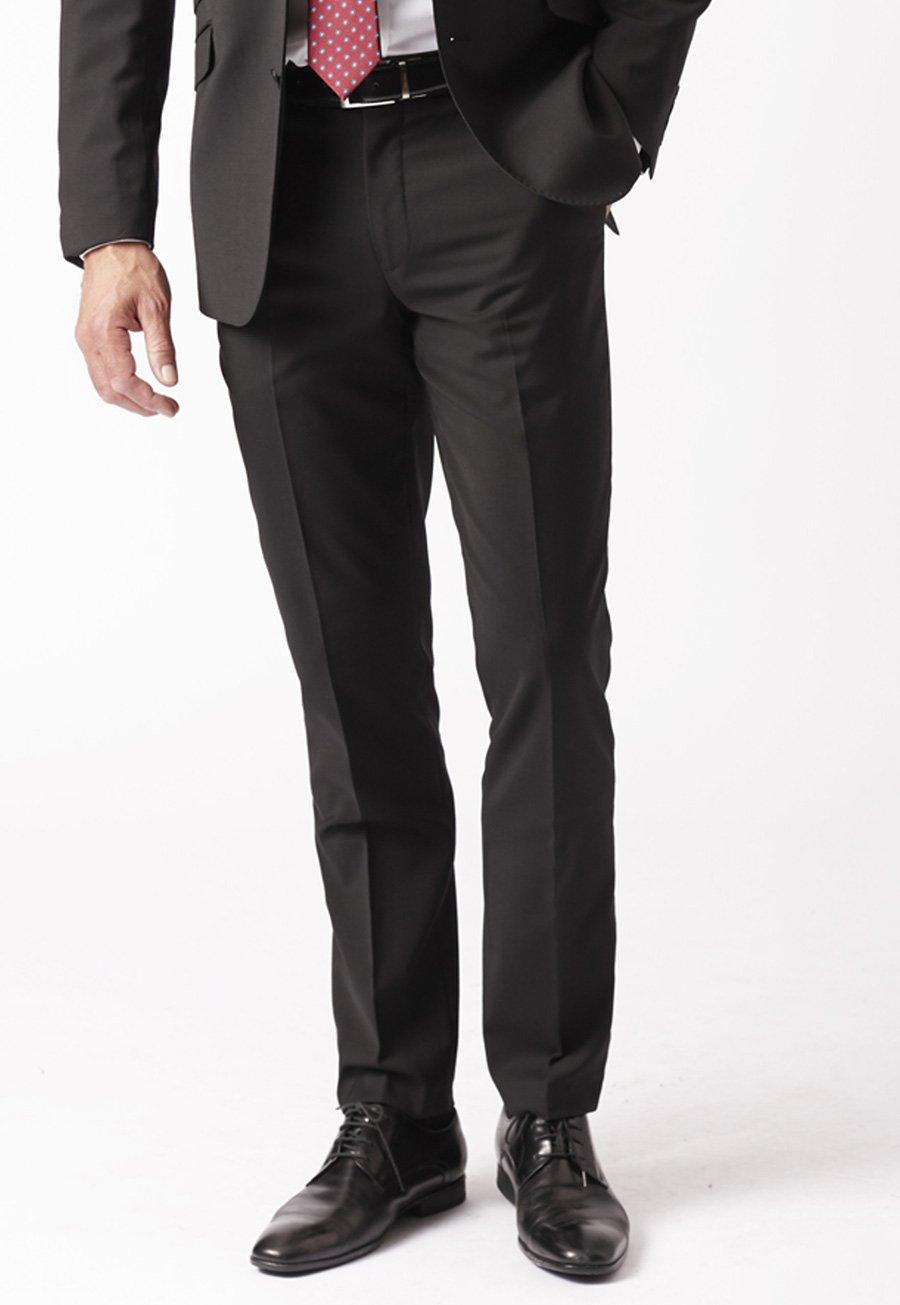 Men's Suits Black Cassino Fashion Fit Washable Suit Trousers