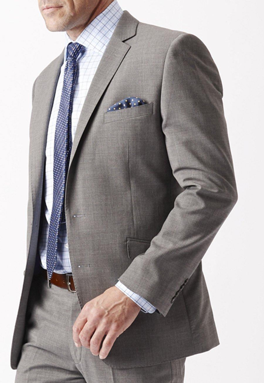 Men's Suits Grey Cassino Fashion Fit Washable Suit Jacket
