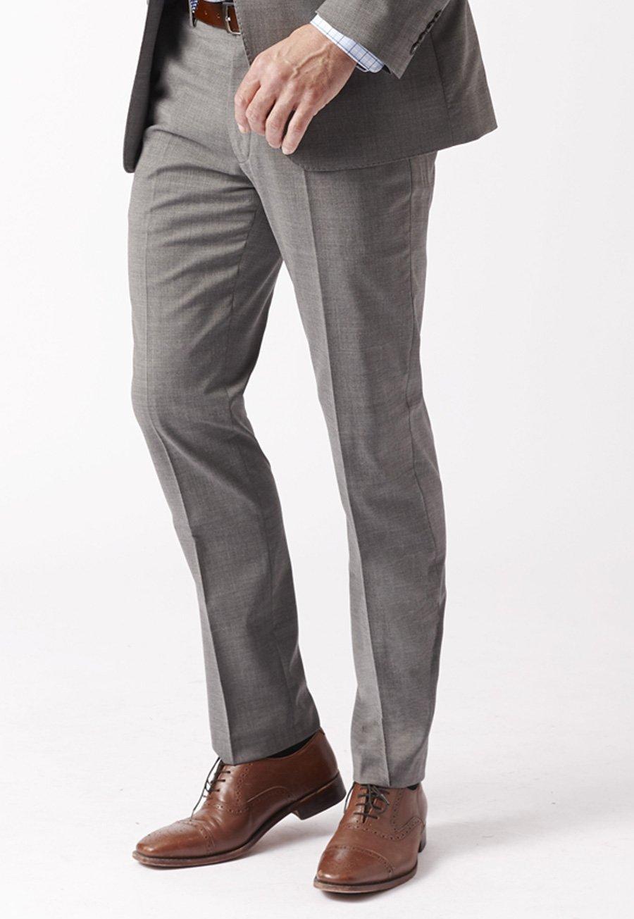 Men's Suits Grey Cassino Fashion Fit Washable Suit Trousers