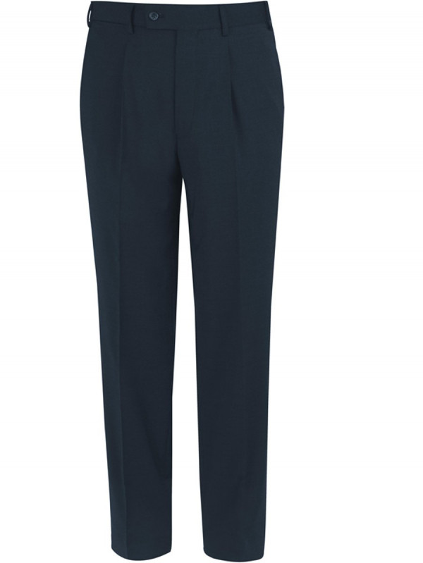 Navy Giglio Tailored Fit Washable Suit Trousers