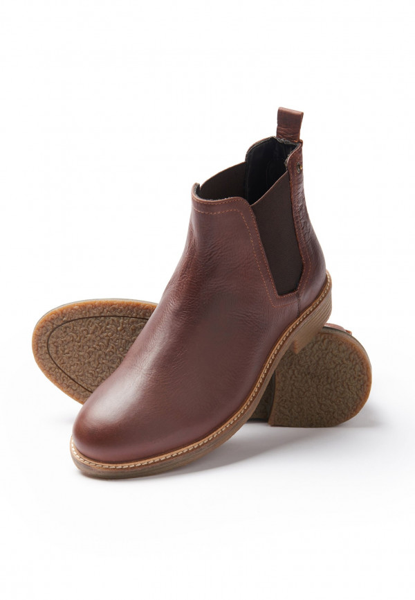 Floyd Brown Chelsea Boot With Rubber Sole