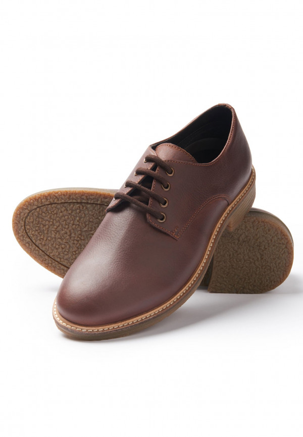 Owen Brown Casual Shoe With Rubber Sole