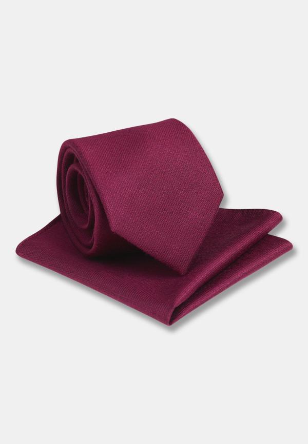 Plain Merlot Hanky And Tie Set