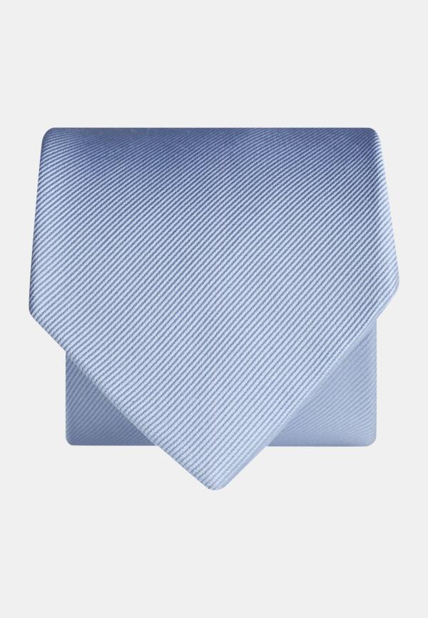 Plain Sky Twill 100% Silk Tie