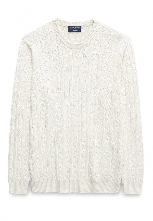 Purton Cream Cable Crew Neck