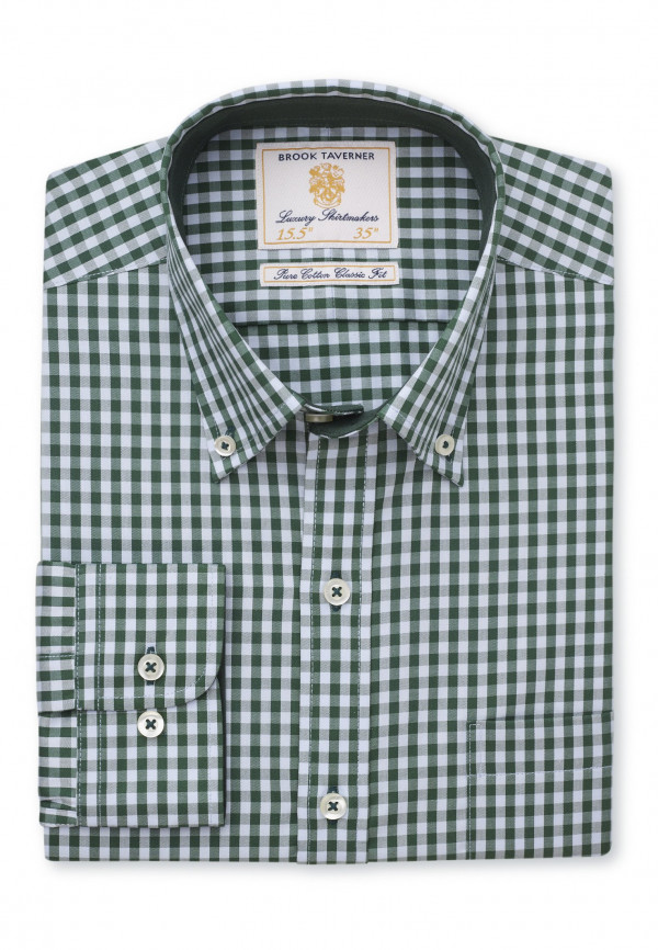 Classic Fit Forest Gingham Shirt