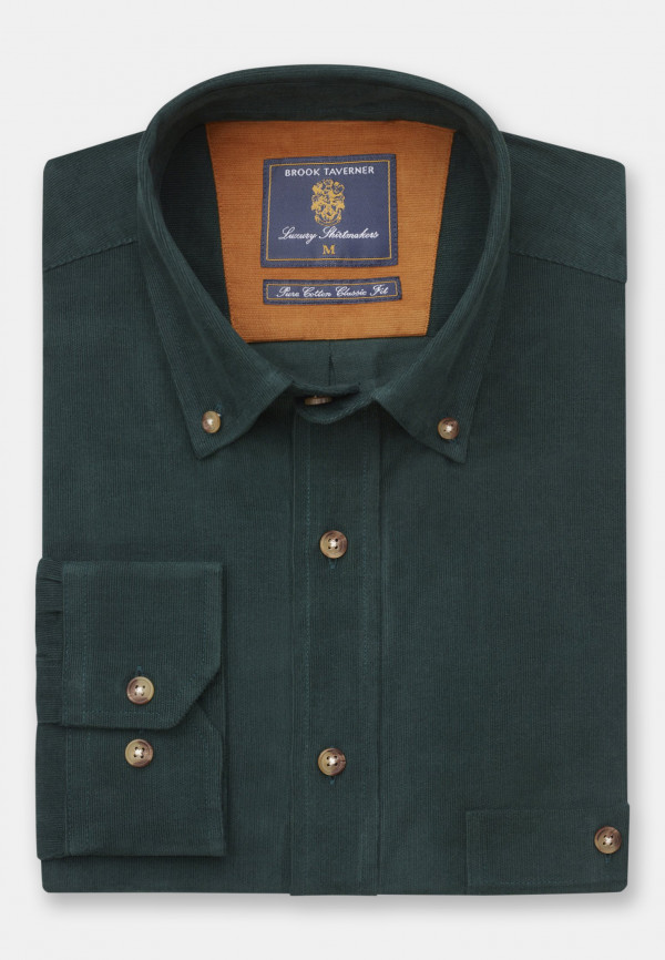 Forest Fine Needle Cord Shirt