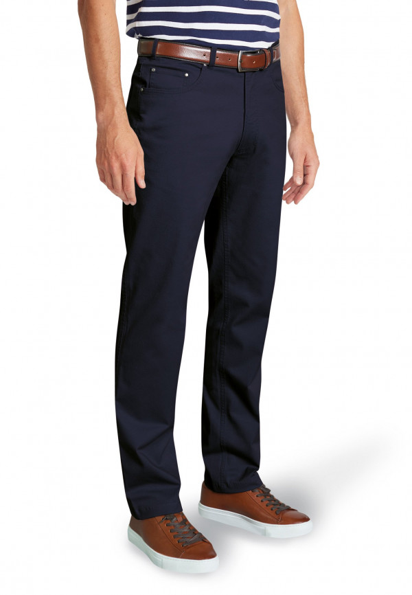 Brunswick Navy Stretch CottonTailored Fit Jean Style Chino