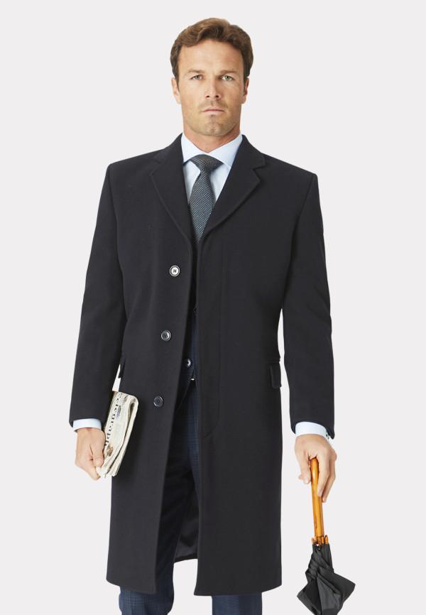 Grey Bond Wool Cashmere Overcoat