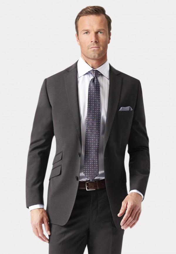 Charcoal Cassino Tailored Fit Washable Suit Jacket