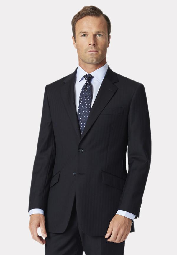 Dawlish Navy Herringbone Suit Jacket