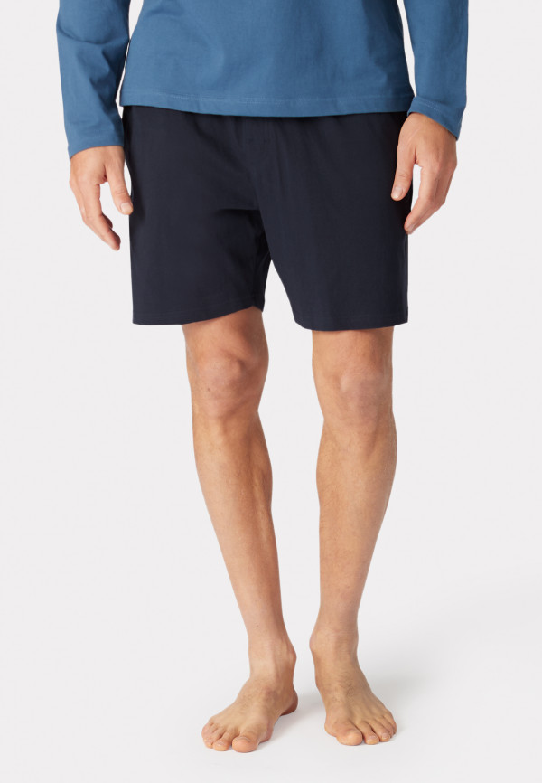 Hawes Navy Cotton Jersey Lounge Shorts