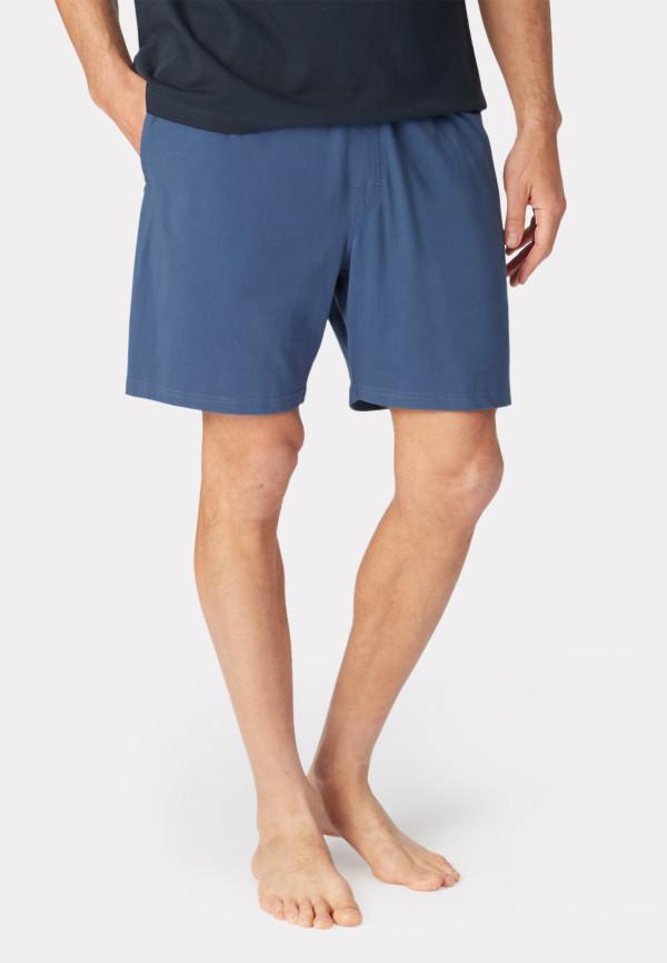 Hawes Denim Blue Cotton Jersey Lounge Shorts