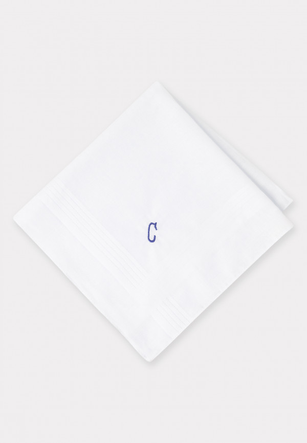 Handkerchief Monogrammed with Initial 'C' - Presentation Pack of Three