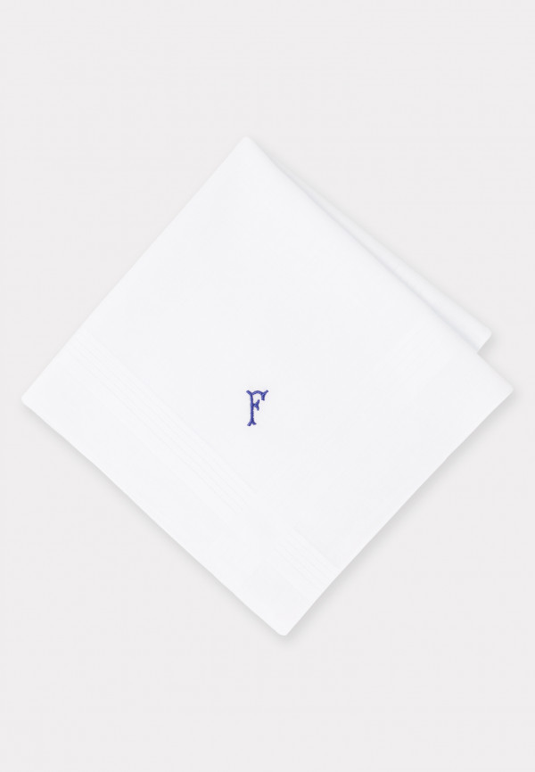 Handkerchief Monogrammed with Initial 'F' - Presentation Pack of Three