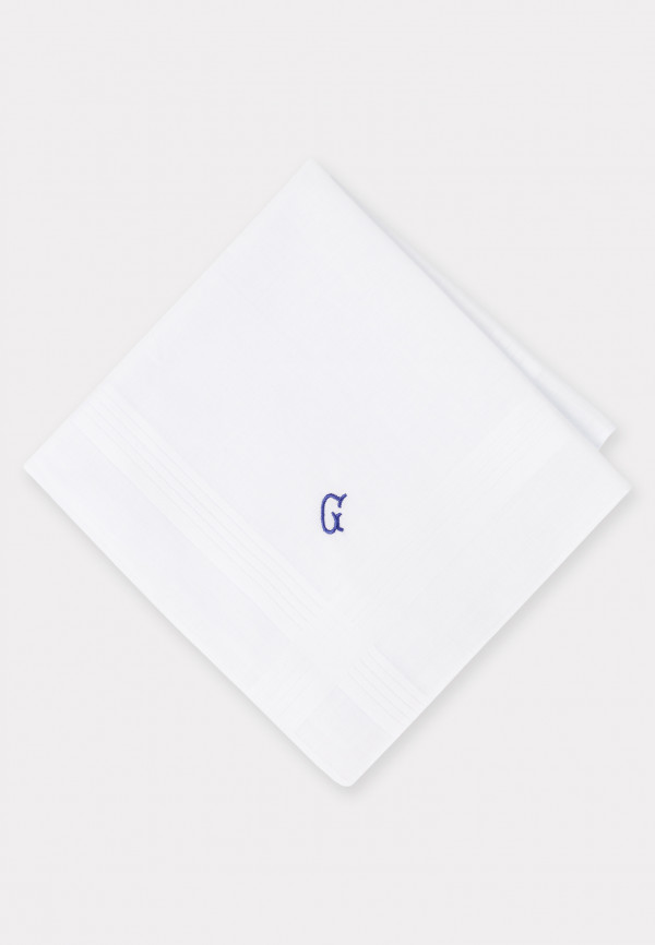 Handkerchief Monogrammed with Initial 'G' - Presentation Pack of Three