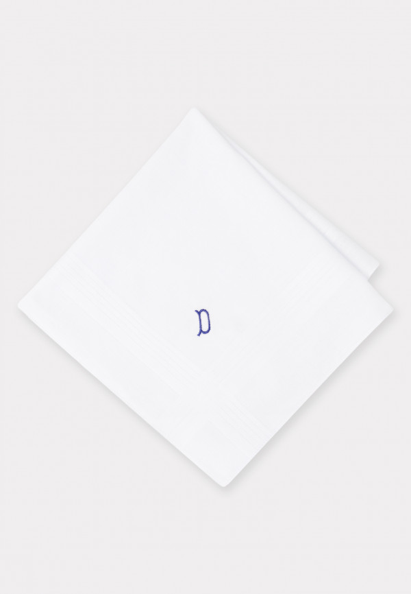 Handkerchief Monogrammed with Initial 'D' - Presentation Pack of 3