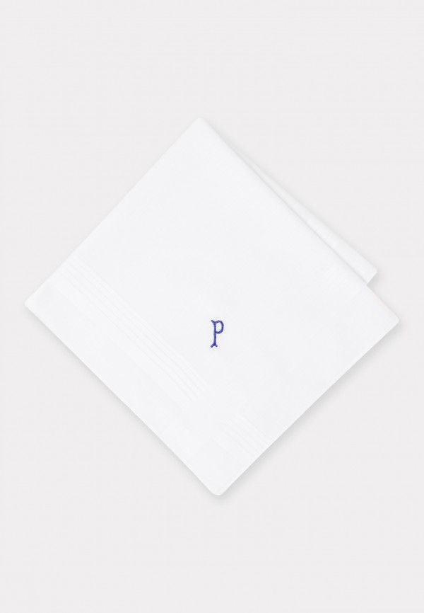 Handkerchief Monogrammed with Initial 'P' - Presentation Pack of 3