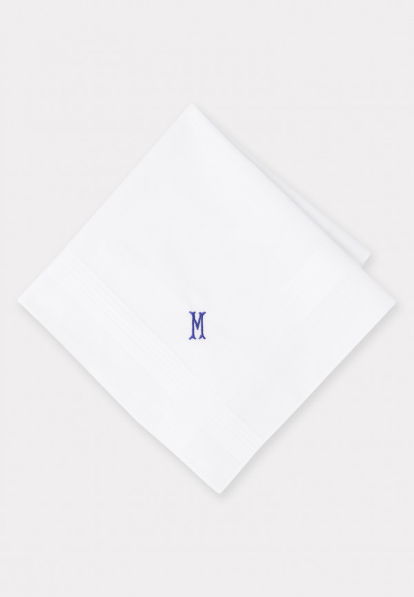 Handkerchief Monogrammed with Initial 'M' - Presentation Pack of Three