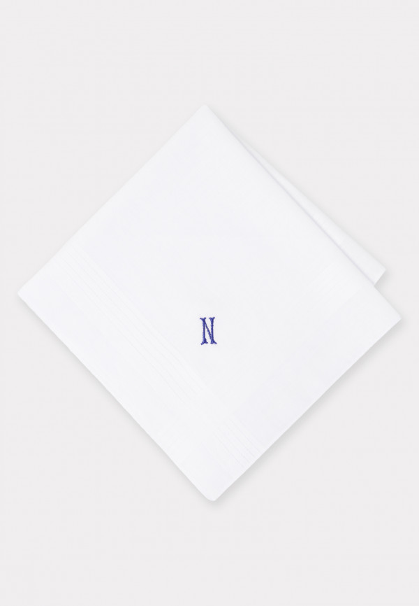 Handkerchief Monogrammed with Initial 'N' - Presentation Pack of Three