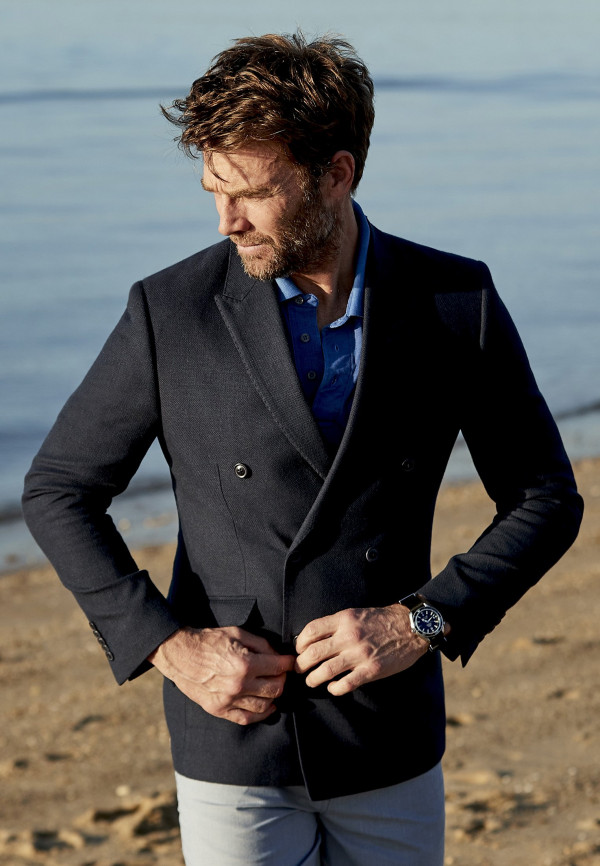 Mayhew Double Breasted Tailored Fit Jacket