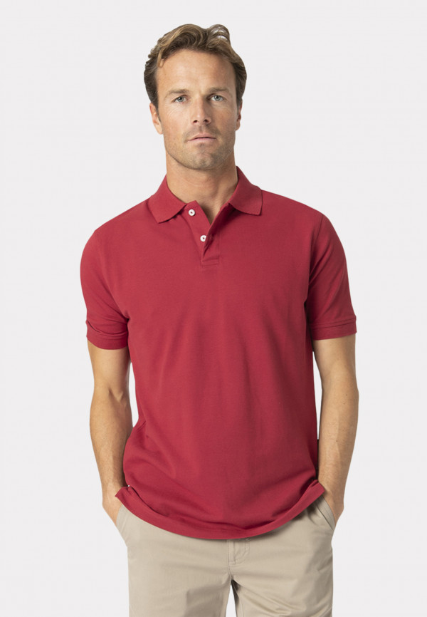 Milford Tomato 100% Pique Cotton Polo Shirt
