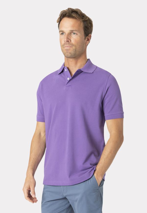 Milford Heather 100% Pique Cotton Polo Shirt