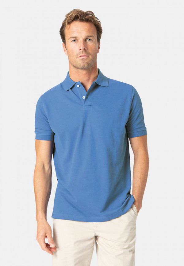 Milford Ocean 100% Pique Cotton Polo Shirt