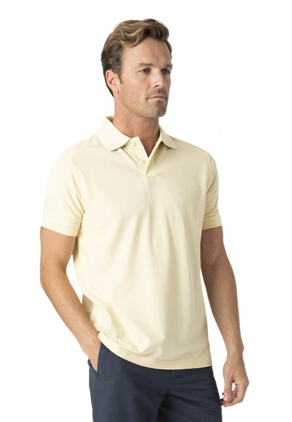 Milford Lemon 100% Pique Cotton Polo Shirt