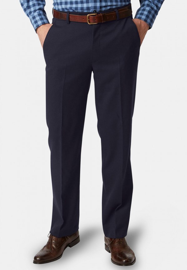 Olney Navy Flannel Trousers