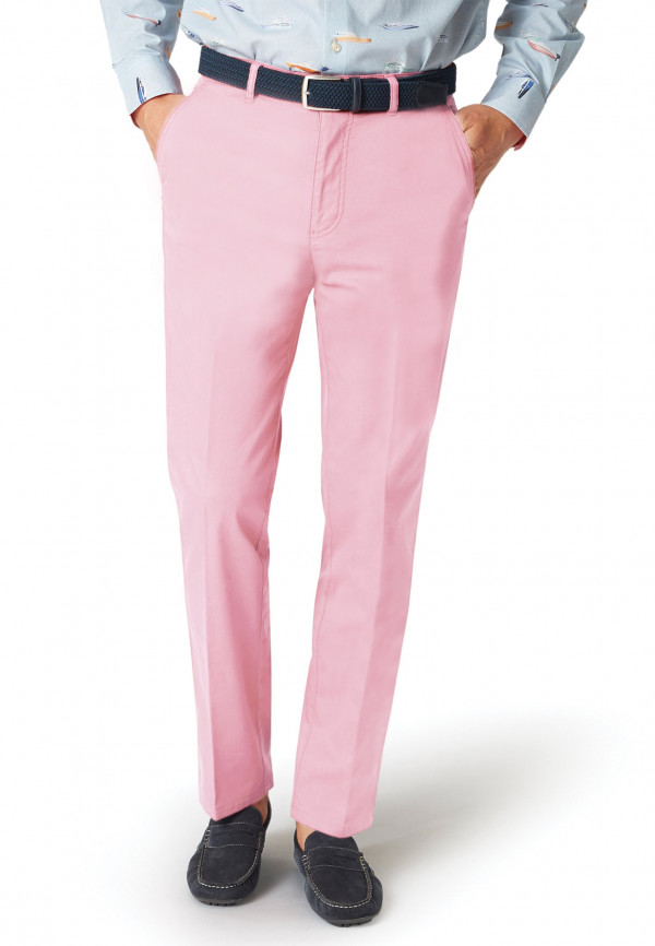 Ribblesdale Baby Pink Tailored Fit Cotton Stretch Summer Trouser