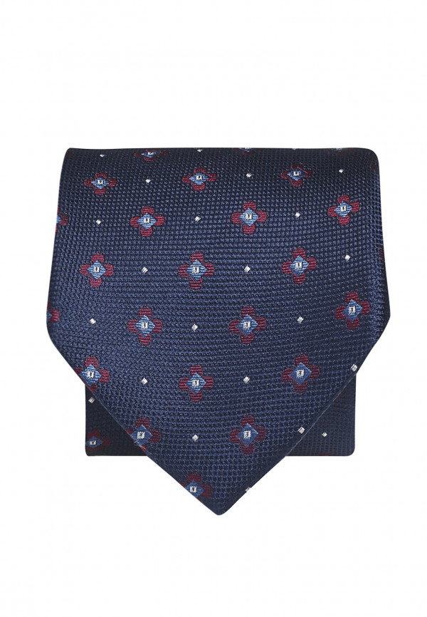 Navy With Red And Blue Flower 100% Silk Tie